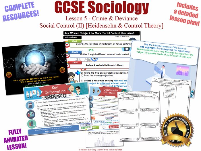 Social Control (Heidensohn, Control Theory) - Crime & Deviance L5/20 [ WJEC EDUQAS GCSE Sociology ]