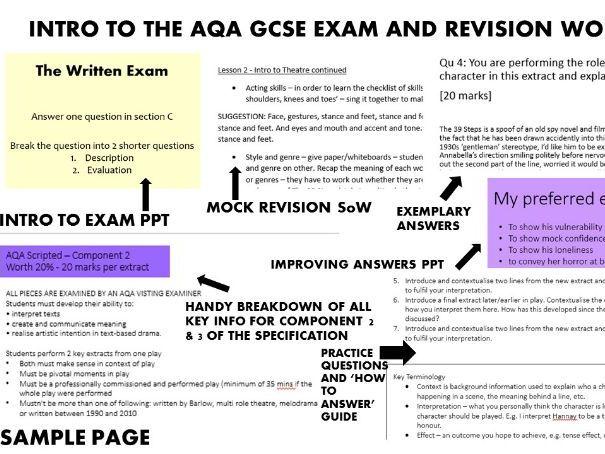 INTRO TO AQA GCSE DRAMA EXAM & REVISION