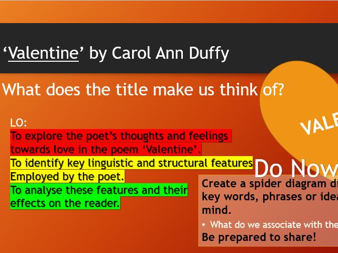 Poem Analysis - 'Valentine' by Carol Ann Duffy