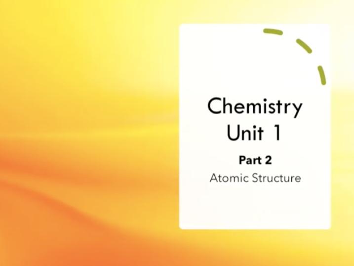 GCSE AQA Chemistry Revision Video Unit 1 - PART 2/3