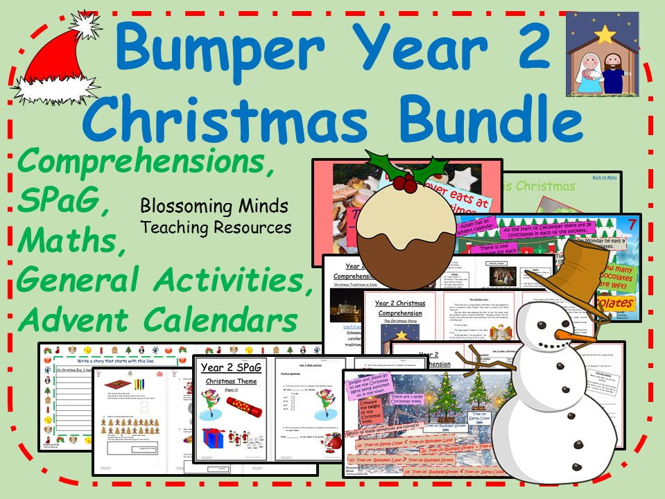 Bumper Year 2 Christmas Activity Bundle