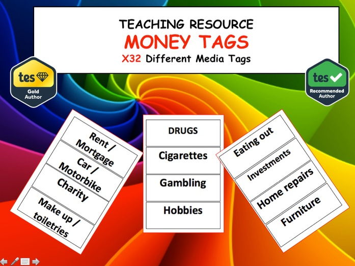 PSHE and Citizenship Finance Money  Influence Tags -