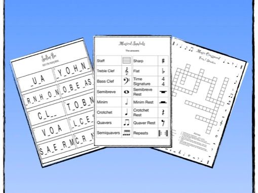 Music Worksheet Pack