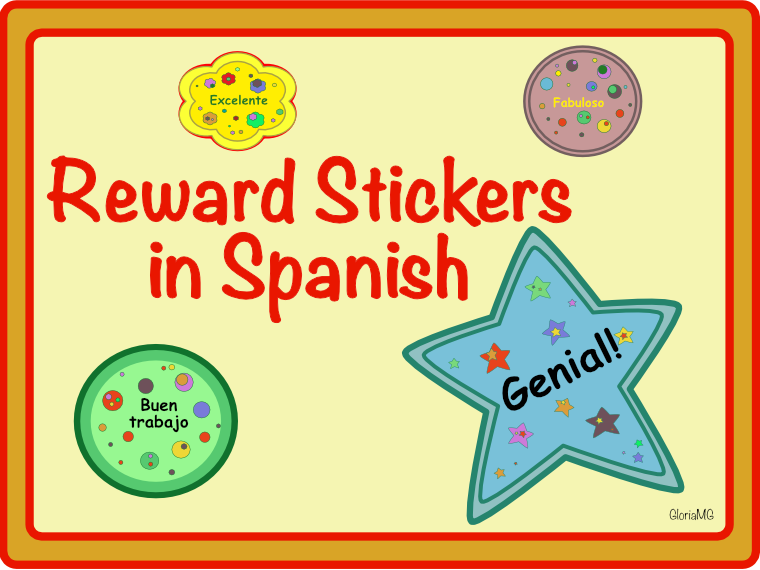 Reward Stickers in Spanish