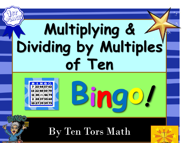 Multiplying and Dividing with Powers of 10 Bingo Game Activity
