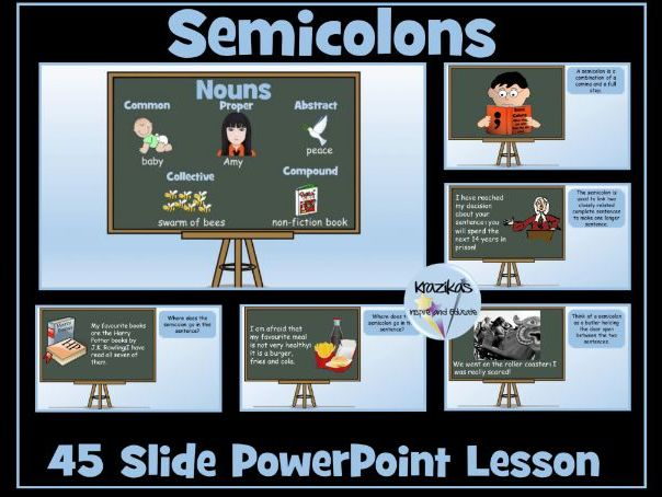 Semicolons PowerPoint Lesson