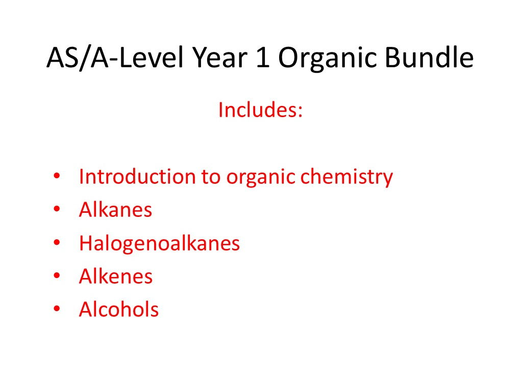 AQA A-level Chemistry Organic Bundle