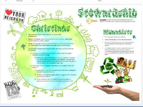 WJEC Eduqas Life and Death: Stewardship and the Environment Learning Mat
