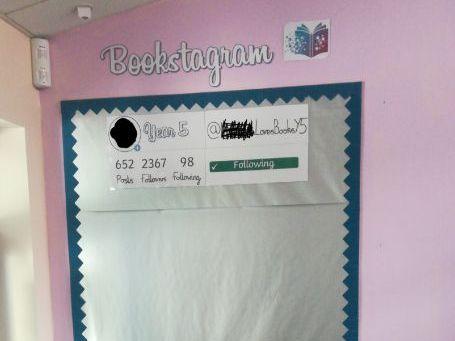 Bookstagram Working Wall Display Year 3