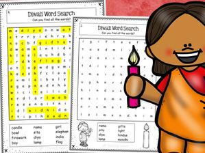 Diwali Word Search Activity