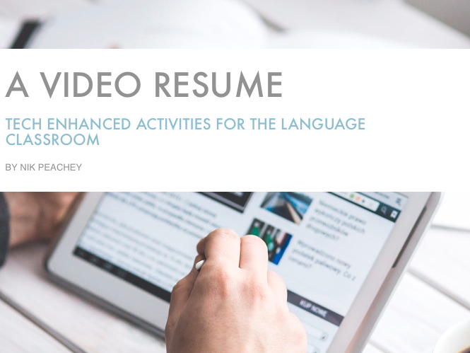 Tech Enhanced Activities - A Video Resume