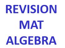 Revision Mat - Algebra