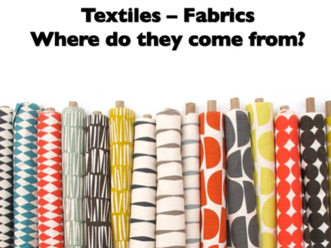 Textiles Fabric / Fibres Lesson Powerpoint and Booklet.