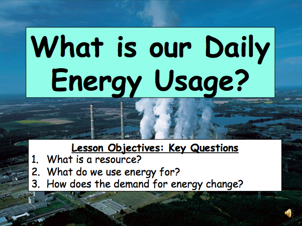 What is our  Daily Energy Use? Resources & Sustainability
