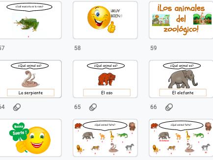 Spanish: pets, farm and zoo animals / mascotas, animales de granja  y animales del zoológico: