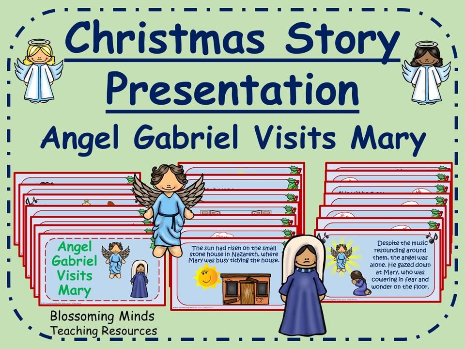 Christmas story presentation - Angel Gabriel visits Mary