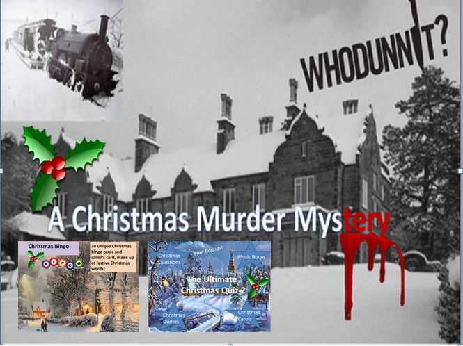 A Christmas Murder Mystery with Chirstmas Quiz and Bingo