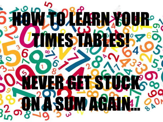 How to learn your times tables