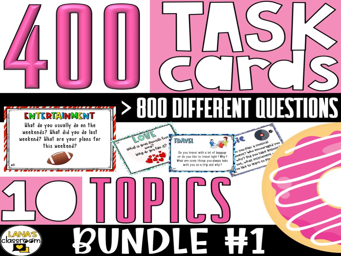 Conversation Starter Task Cards | BUNDLE#1 | For Middle & High School
