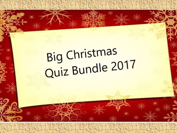4 Quiz Christmas Bundle Plus a Decorative Banner for your classroom