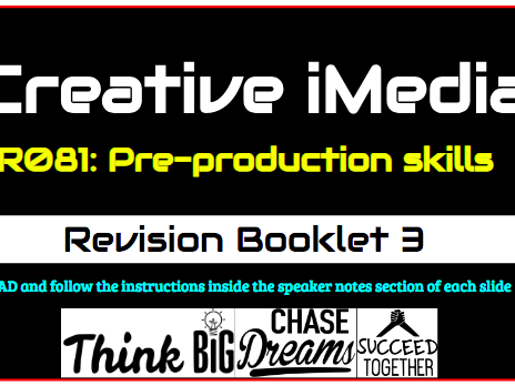 R081 Pre-Production Skills Revision Workbook 3