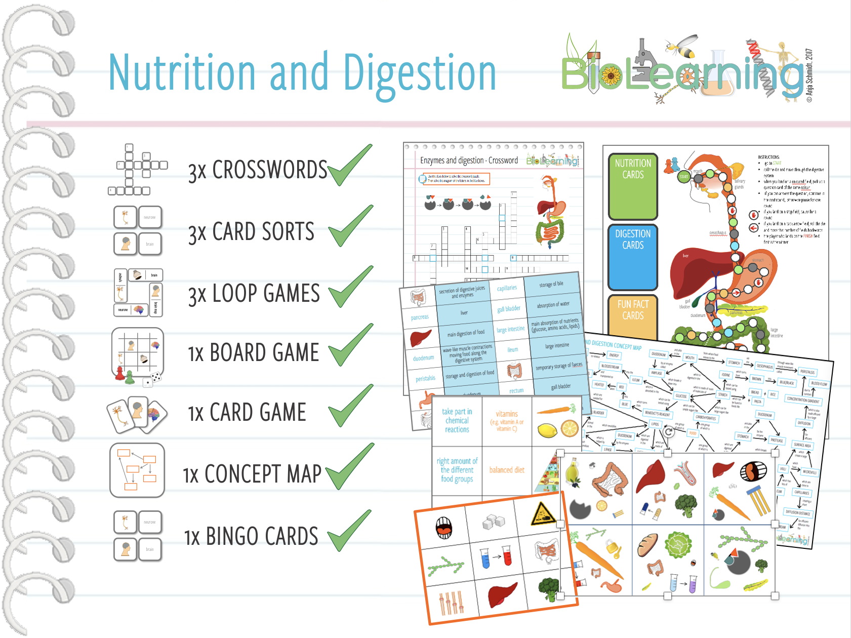 Nutrition and Digestion - 13x Activities and Games Bundle