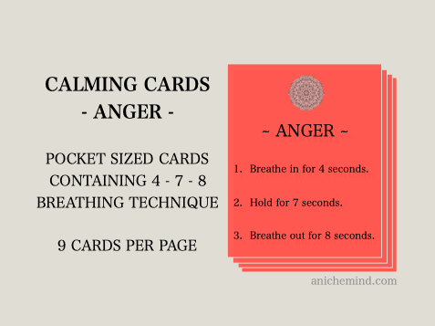 Anger Calming Cards (Self Esteem)