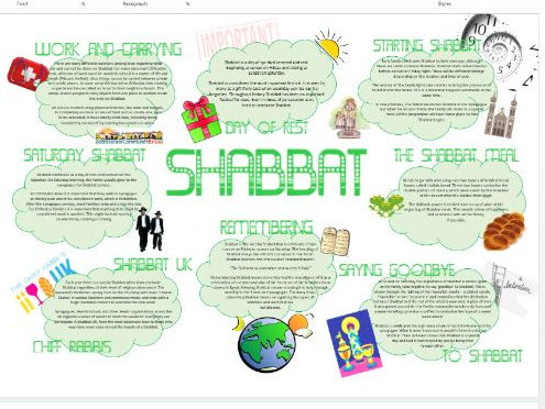 Judaism: Shabbat Learning Mat Information Sheet