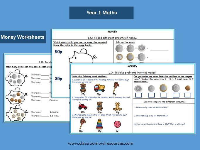 Year 1 Maths - Money Worksheets