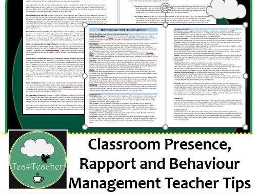 Classroom Presence, Rapport & Classroom Management for New & Improving Teachers