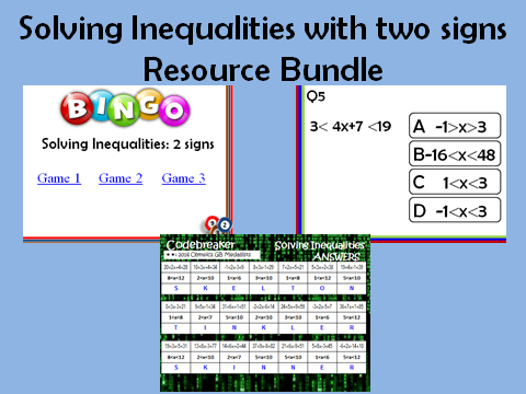 Solving Inequalities_two signs: 3 resources