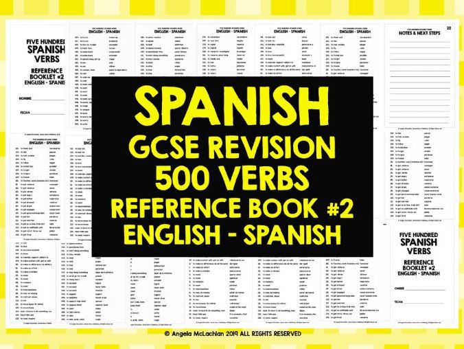GCSE SPANISH: SPANISH 500 VERBS REFERENCE BOOK #2