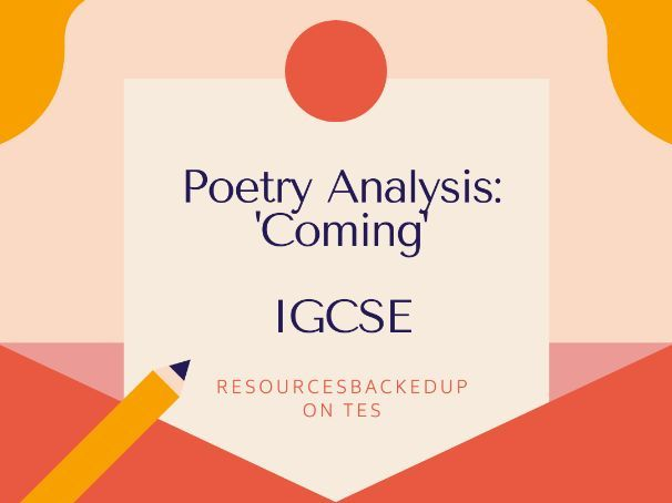 IGCSE Literature: Analysis of  'Coming' by Philip Larkins