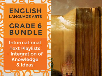 Informational Text Playlists - Integration of Knowledge & Ideas Bundle: Grade 6