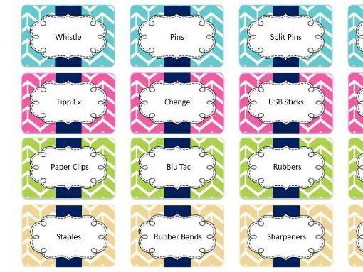 Teacher Toolkit Labels
