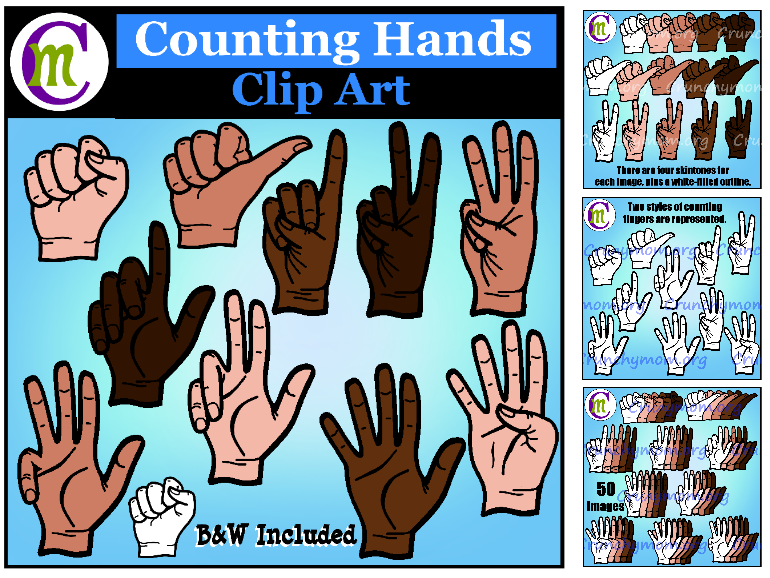 Counting Hands Clip Art
