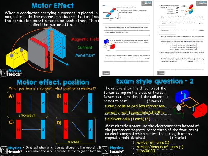 GCSE 9-1 - AQA Physics 4.7 - The Motor Effect