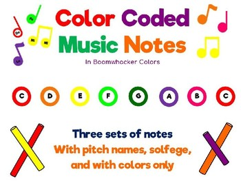 Color Boomwhacker Notes-Pitch and Solfege
