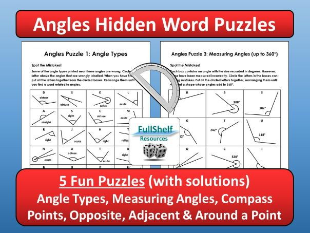 Angles Worksheets (Puzzles)