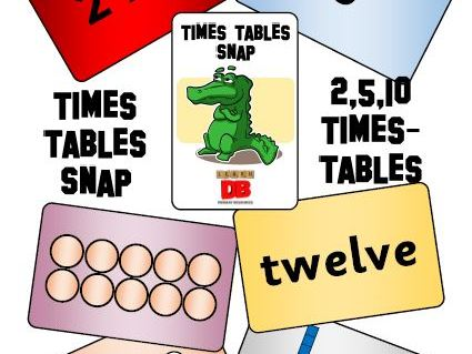 Times Tables Snap cards - 2,5,10 x tables KS1 bundle