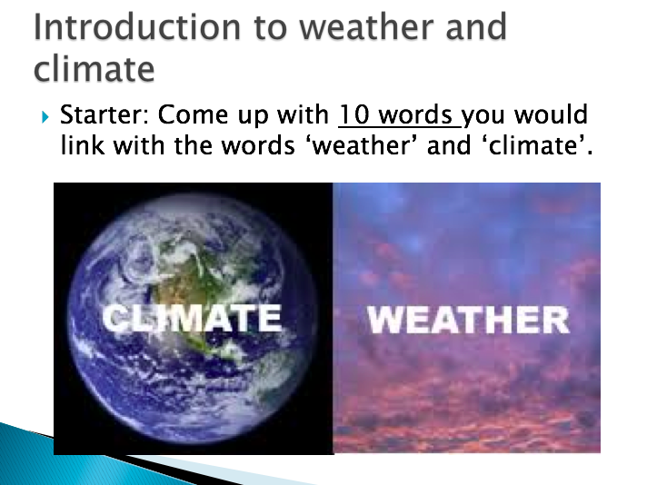 3.1 Recording the weather KS3 Geography