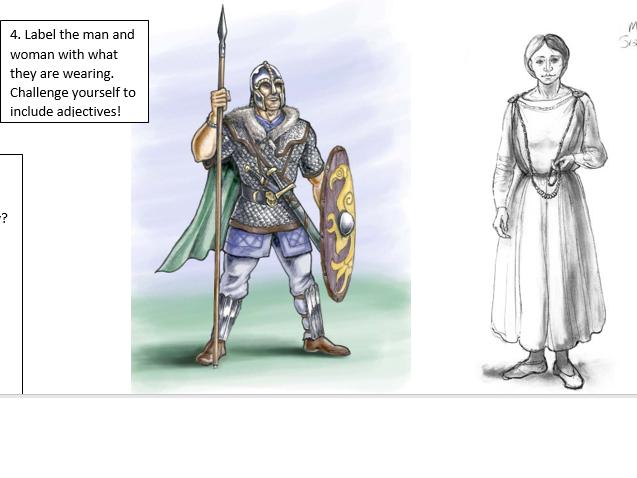 Anglo Saxon-Information and tasks KS3