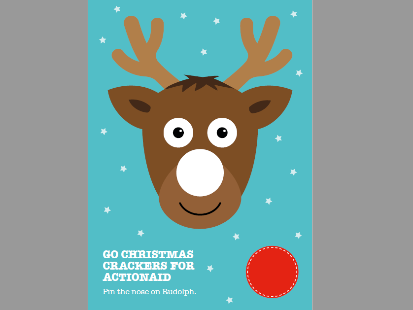 image about Pin the Nose on Rudolph Printable named Pin the nose upon Rudolph and Xmas get together masks by means of