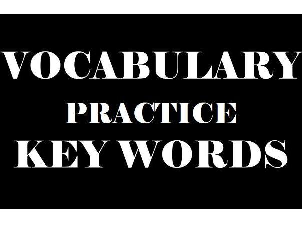 VOCABULARY ACTIVITY KEY WORDS 16