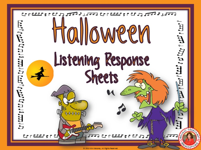 Halloween Music Listening Response Sheets