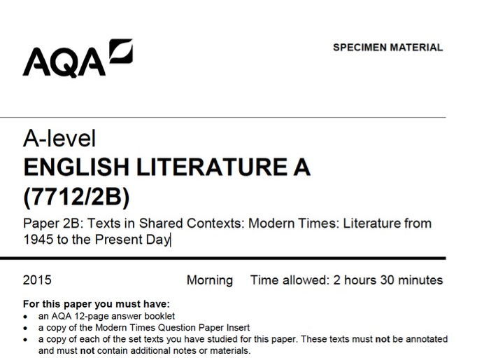 AQA A Level Unseen Prose Assessments, Theme Guide and Tips