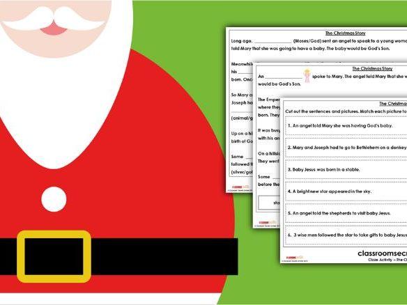The Christmas Story Cloze Activity