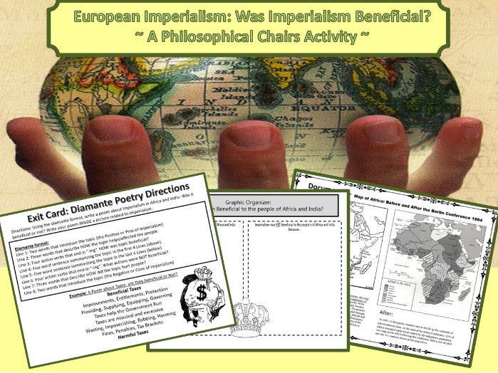 Imperialism: Was Imperialism Beneficial? ~Philosophical Chairs Activity~
