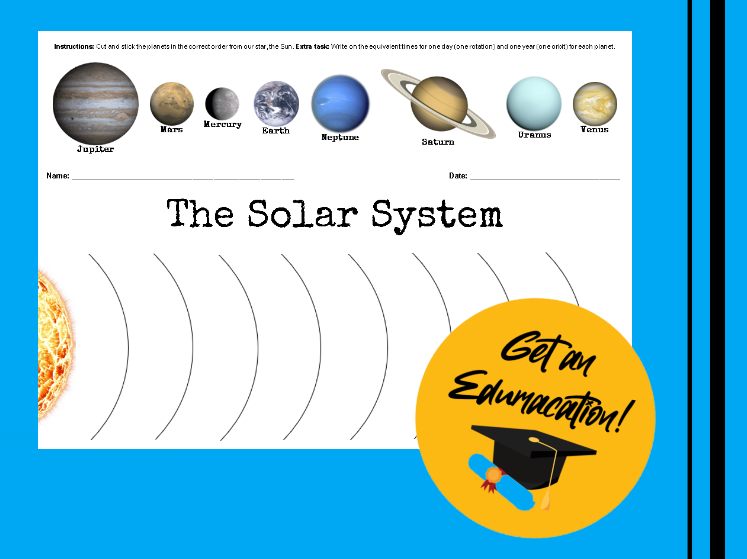 The Solar System - A3 Cut and Stick Activity