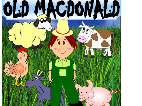 Old MacDonald had a farm singing props resources EYFS